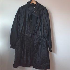 ARITZIA Wilfred Free Black Coat with Hood